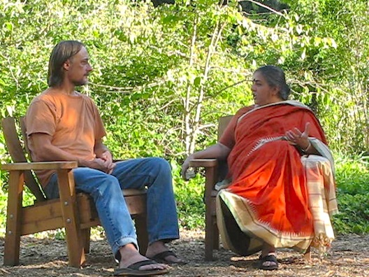Dave and Vandana Shiva at OAEC