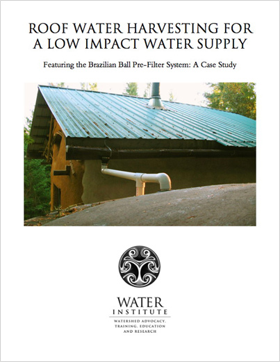 Roof Water Harvesting For A Low Impact Water Supply