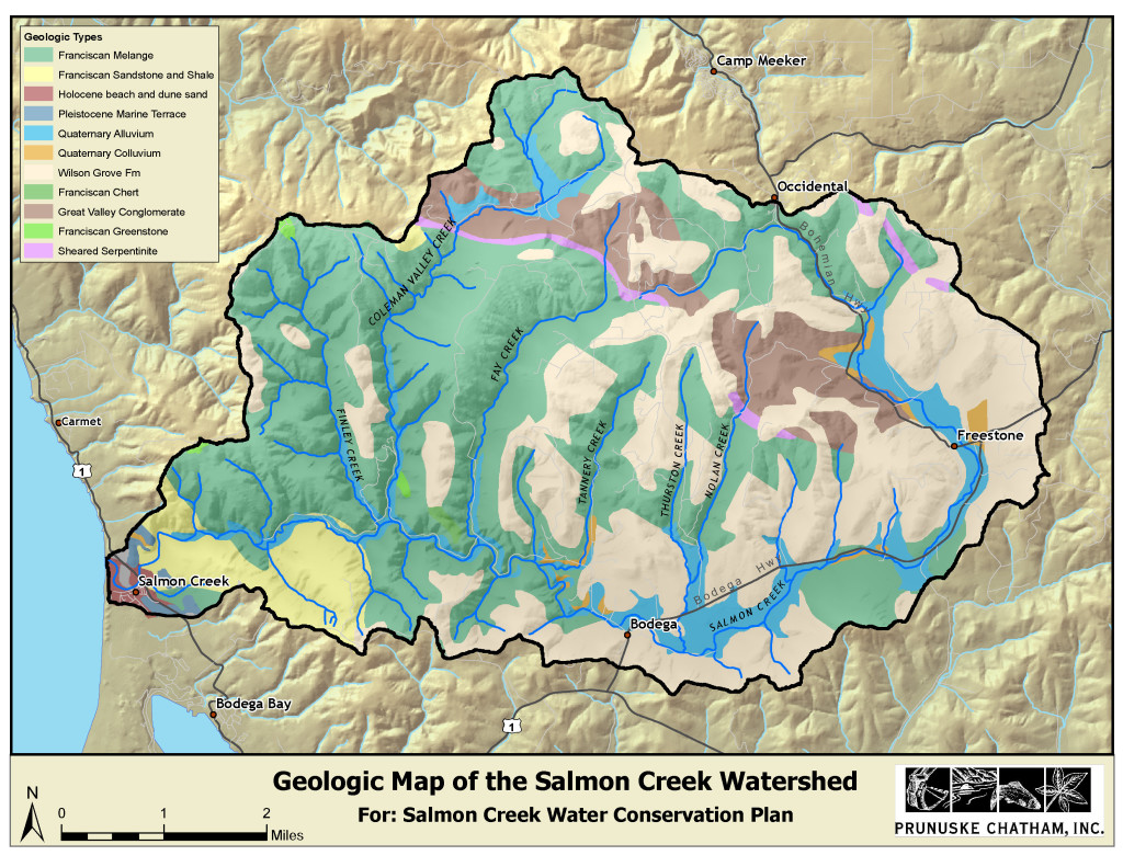 Geologic Map of the Salmon Creek Watershed